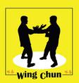 men demonstrate kung fu wing chun vector image vector image
