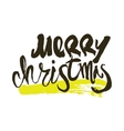 Merry Christmas calligraphy Handwritten modern vector image