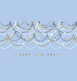 minimal christmas garland pattern for header vector image