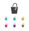of instrument symbol on pail vector image vector image