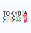 olympic 2020 japan postponement from virus covid19 vector image vector image