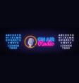 on air radio neon logo air radio neon vector image vector image