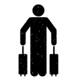 Passenger Baggage Grainy Texture Icon vector image vector image