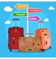 picture of travel bags vector image vector image