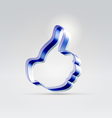 Plastic blue approving like hand vector image vector image