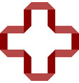 red cross on white background seamless wallpaper vector image