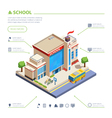 School Building Design vector image vector image