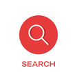 search round flat icon magnifying glass symbol vector image