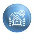 smart house protect icon outline style vector image