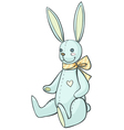 soft bunny vector image vector image