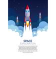 space exploration start-up business rocket vector image vector image