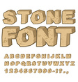 Stone font Set of letters from stones Alphabet and vector image vector image
