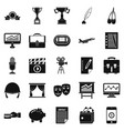 successful business icons set simple style vector image vector image