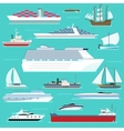 super set water ships carriage maritime boat vector image vector image