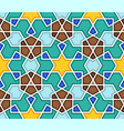traditional geometric colorful arabic islamic vector image vector image