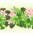 tropical border seamless background tropical vector image vector image