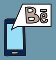 unusual look web icon of modern social network vector image vector image