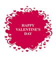 valentine round magenta vector image vector image