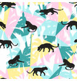 vestor seamless pattern with leopards and abstract vector image vector image
