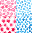 Watercolor abstract pattern vector image vector image
