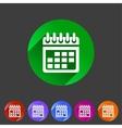 Calendar flat icon web sign symbol logo label vector image