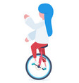 a girl with an unicycle vector image