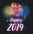 2019 year greeting card vector image