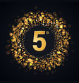 5 years anniversary isolated design element vector image vector image