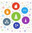 7 block icons vector image vector image