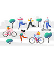 active people outdoor in park characters vector image