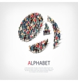 alphabet people sign 3d vector image vector image