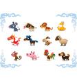 animals symbols chinese horoscope vector image