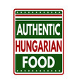 authentic hungarian food label or stamp vector image vector image