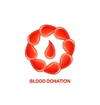 blood donation logo vector image vector image