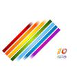 Bright rainbow stripes background vector image