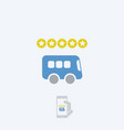 bus rating icon vector image vector image