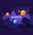 cartoon galaxy futuristic outer space background vector image vector image