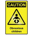 Children hazard Sign vector image vector image