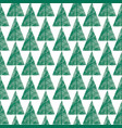 christmas tree greeting seamless pattern winter vector image vector image