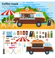 Coffee truck on street in the city vector image vector image