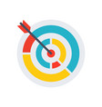 colored target icon vector image vector image