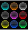 colorful circle glass buttons or banners set vector image