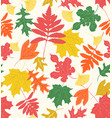 colorful leaves - chalky brights vector image vector image