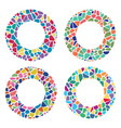 colorful mosaic round patterns vector image vector image