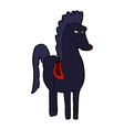 comic cartoon horse vector image vector image