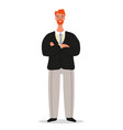 confident smiling businessman is standing with vector image vector image