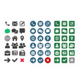contact ui app icons vector image