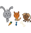 Cute group animals vector image
