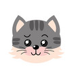 cute wild animal face with expression vector image vector image