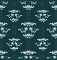 damask hand drawn seamless pattern vector image vector image